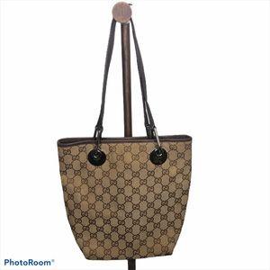 Gucci Eclipse GG Monogram Tote Supreme Brown Bag